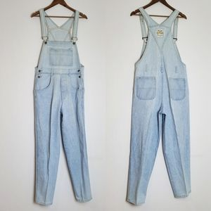 VINTAGE HIGH RISE TAPERED OVERALLS DUNGAREES LARGE